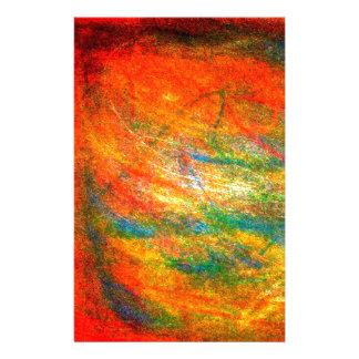 Papeterie Illustration orange abstraite