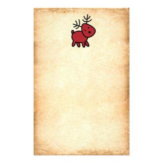 Papeterie Illustration rouge de renne de Noël