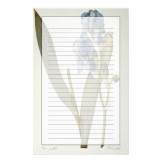 """Papeterie Iris Pallida, de """"Les Liliacees"""", 1812"""