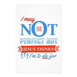 Papeterie Jésus pense que je dois mourir pour