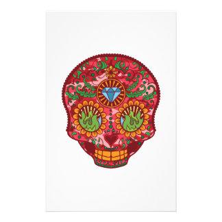 Papeterie Jour mexicain rose de Camo du crâne mort de sucre