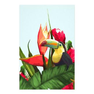 Papeterie La banane tropicale de toucan part du bouquet