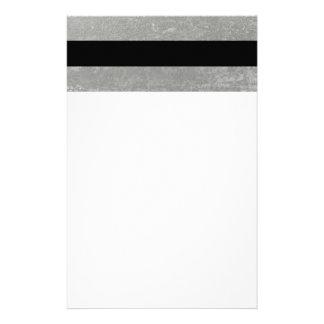 Papeterie Le noir élégant barre l'aluminium argenté imprimé