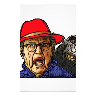 Papeterie Le singe de babouin effraye le vieil homme anglais