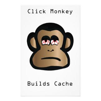 Papeterie Le singe de clic établit la cachette