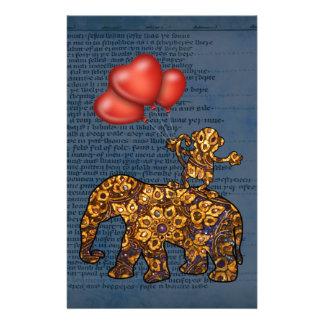 Papeterie Le singe sur des éléphants soutiennent des ballons