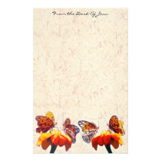 Papeterie Le tournesol de papillon de fritillaire fleurit la