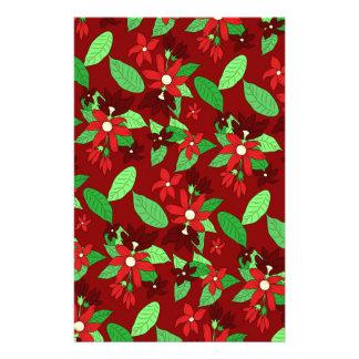 Papeterie Ligne florale motif en rouge