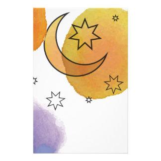 Papeterie Lune et étoiles