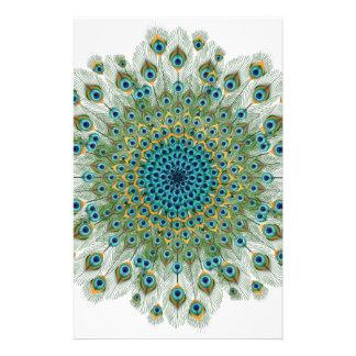 Papeterie Mandala coloré de paon masculin