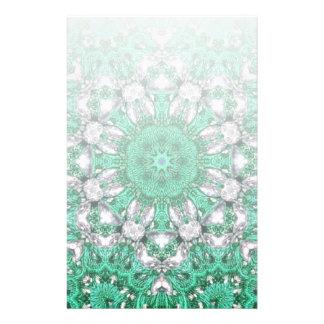 Papeterie mandala de Bohème chic de vert vert de motif