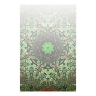 Papeterie Mandala de Bohème rustique de vert forêt de