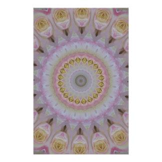 Papeterie Mandala des roses jaunes