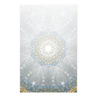 Papeterie Mandala en cristal de Bohème de bleu d'argent de