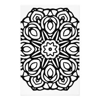 Papeterie Mandala fleur de 6 bougies