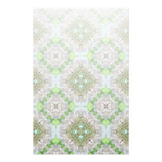 Papeterie Mandala floral bling la fausse pierre de vert vert