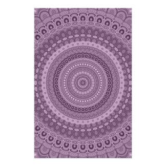 Papeterie Mandala mauve de cercle