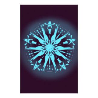 Papeterie Mandala pourpre foncé