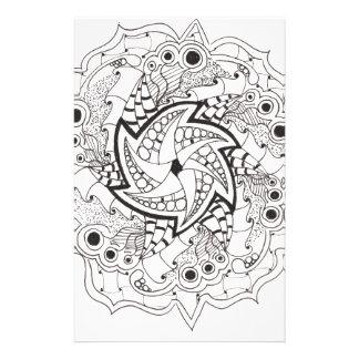 Papeterie Mandala tissé