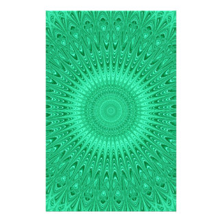 Papeterie Mandala vert 2
