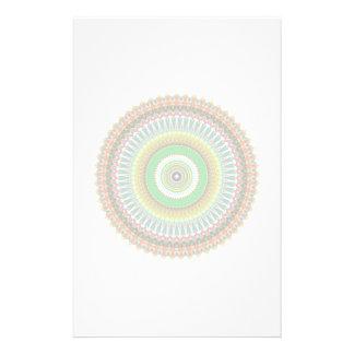 Papeterie Mandala vert et jaune de kaléidoscope