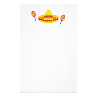 Papeterie Maracas colorés de casquette de sombrero de fiesta
