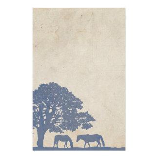 Papeterie Mariage vintage bleu et en ivoire de ferme de