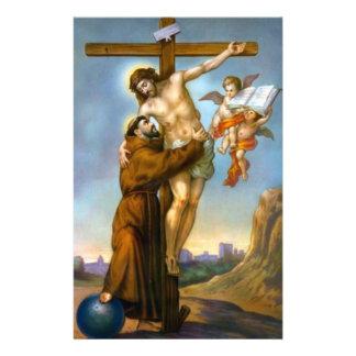 Papeterie Monde croisé d'anges de St Francis Jésus