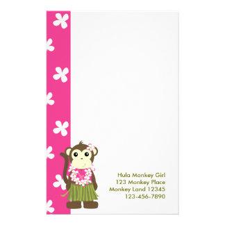 Papeterie monkeyflowers2, girlmonkeytrop, singe Gir de danse