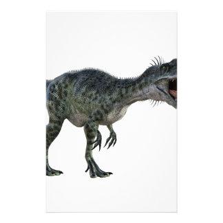 Papeterie Monotophosaurus se pliant plus d'et hurlant