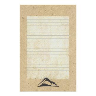 Papeterie Montagne avec des Sunrays rayés