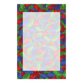 Papeterie Motif - blocs constitutifs de couleurs primaires