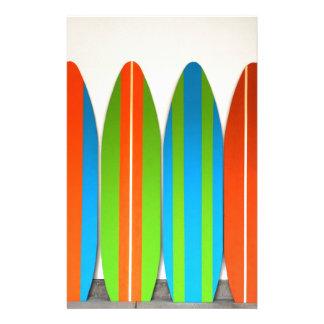 Papeterie Motif coloré Deisgn de planche de surf