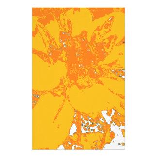 Papeterie Motif de fleur floral orange de dahlia d'heure