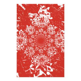 Papeterie Motif de fleur floral rouge élégant de dahlia