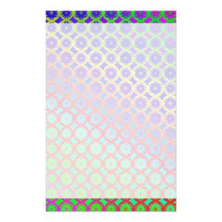 Papeterie Motif de fractale de mandala d'arc-en-ciel