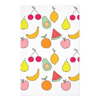 Papeterie motif de fruit