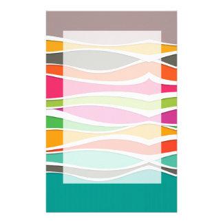 Papeterie Motif de vagues géométrique coloré abstrait