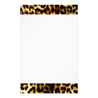 Papeterie Motif élégant de léopard de mariage de Noël de
