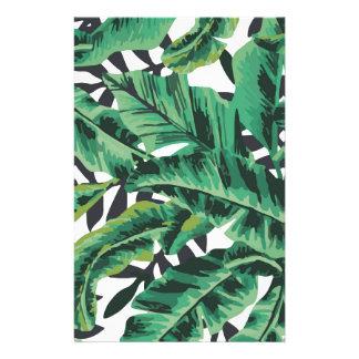 Papeterie Motif fascinant tropical de feuille de banane