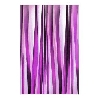 Papeterie Motif rayé de Lavendar, d'iris et de raisin