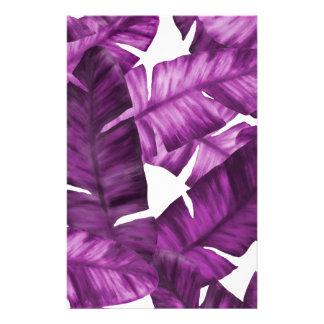 Papeterie Motif tropical rose de feuille de banane