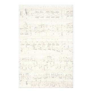 Papeterie Musique de feuille sur le parchemin manuscrit en