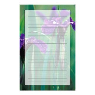Papeterie Na, Etats-Unis, Alaska, île de chevalier, iris