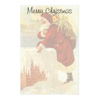 Papeterie Noël vintage le père noël victorien dans la