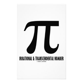 Papeterie Nombre irrationnel et transcendantal de pi (maths)