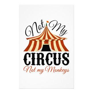 Papeterie Non mon cirque - non mes singes