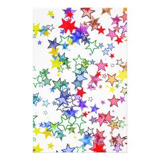 Papeterie norme avec des étoiles