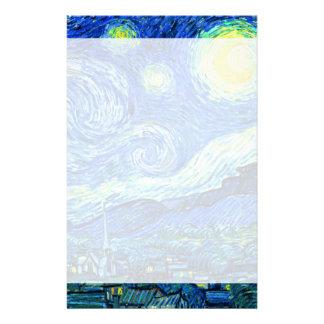 Papeterie nuit étoilée de Vincent van Gogh