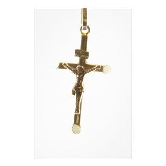 Papeterie Or croisé de Jésus-Christ horizontal